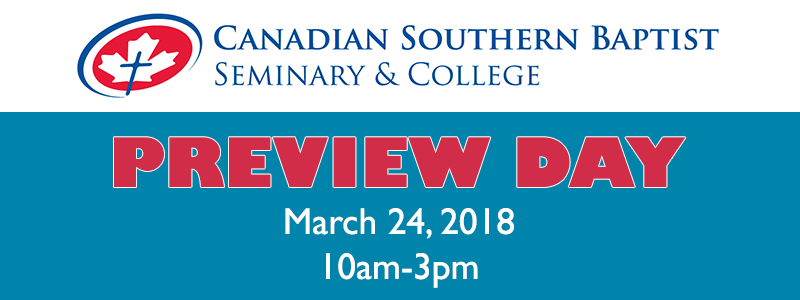 Preview Day March 24th, 2018 from 10am-3pm